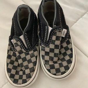 vans checkered little kids size 5 guc/play